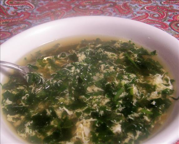 Michele's Spinach Egg Drop Soup