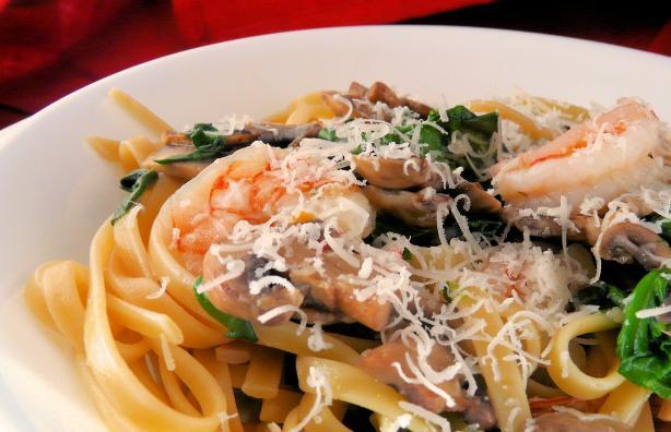 Mushroom Pasta Scampi