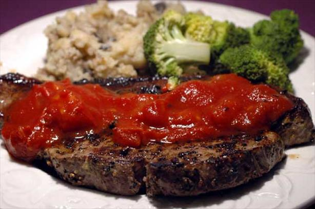 Peppered Steak With 5 Star Gourmet Steak Sauce