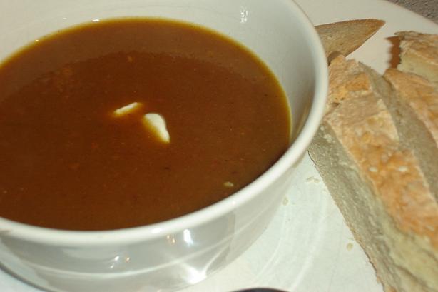 Moroccan Pumpkin Soup (L'hamraak Garagh)