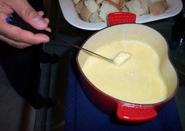 Halloween Cheddar Fondue (for the adults)