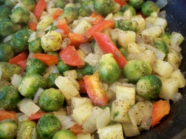 Brussels Sprouts 'n Potatoes
