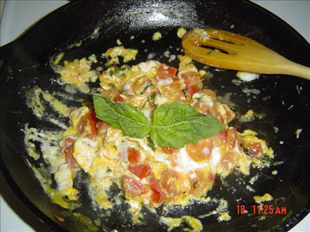 basilic tomato and egg
