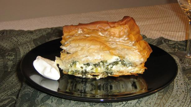 Bosnian Pita (phyllo pie) with Spinach Filling