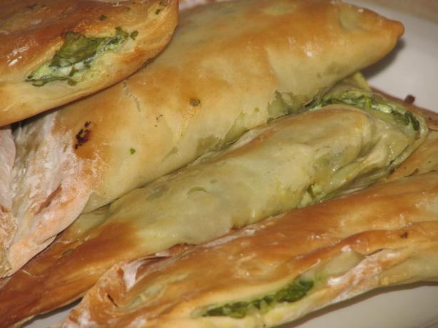 Spinach and Feta Phyllo Parcels