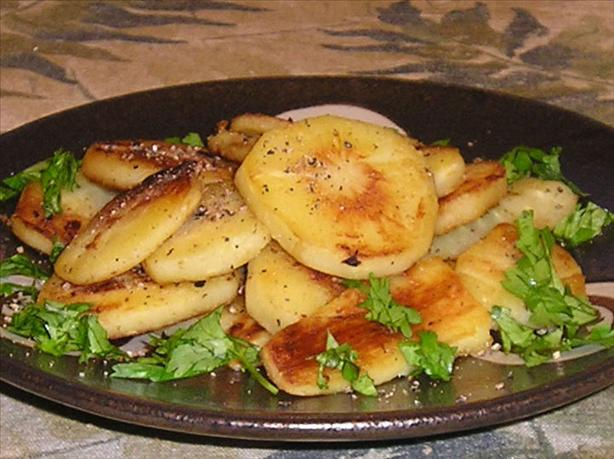 Buttered Fried Parsnips