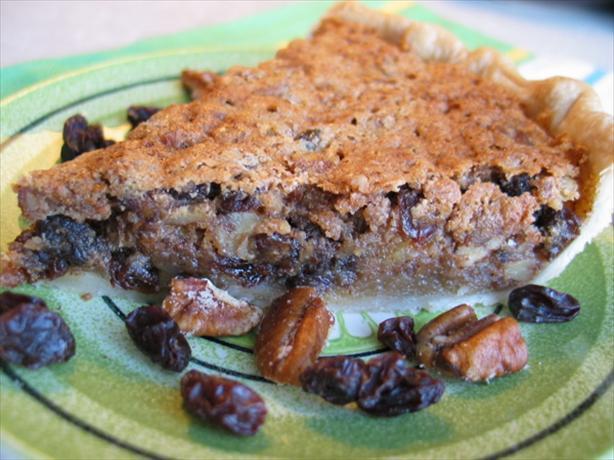 Tipsy Raisin Pecan Pie