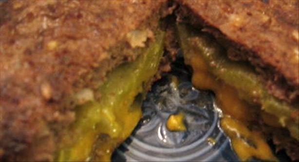 Cheese & Green Chilies Stuffed Burgers