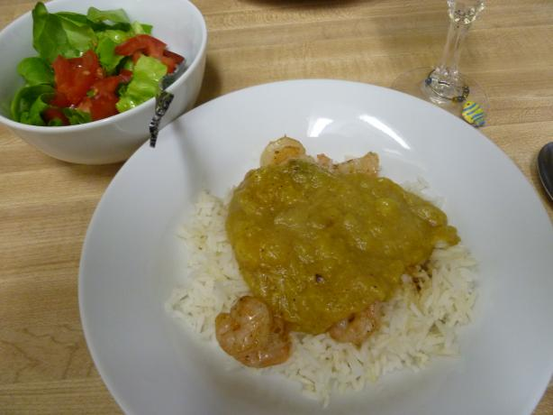 Sauteed Shrimp with Curried Banana Sauce