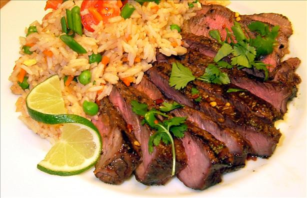 Grilled Thai Sirloin with Tangy Lime Sauce