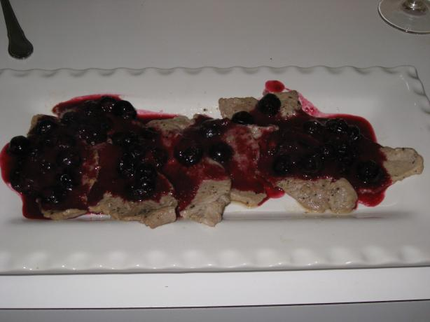 Veal Medallions with Blueberry-Citrus Sauce