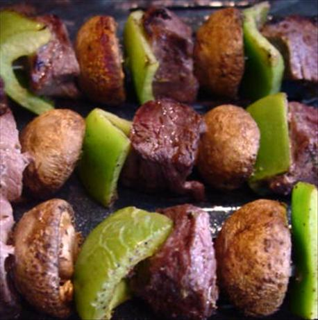 Beef, Pepper & Mushroom Kabobs