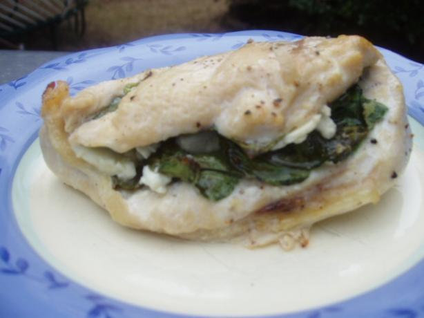 Chicken Breasts Stuffed with Feta and Spinach