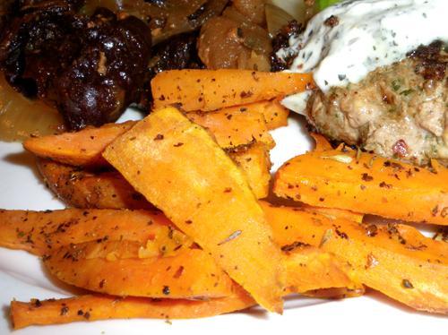 Oven-Fried Sweet Potatoes