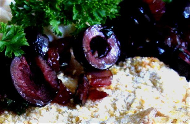 Red Onion and Black Olive Sauce