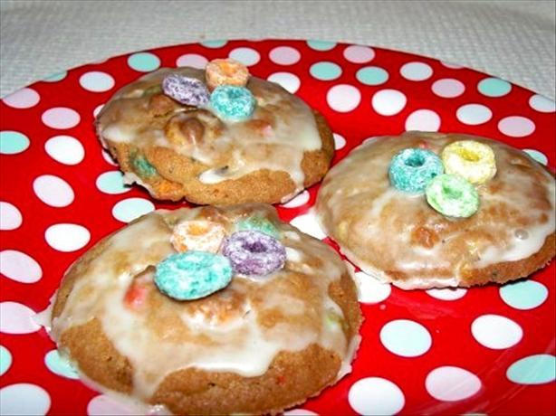 Fruit Loop Cookies and Orange Icing