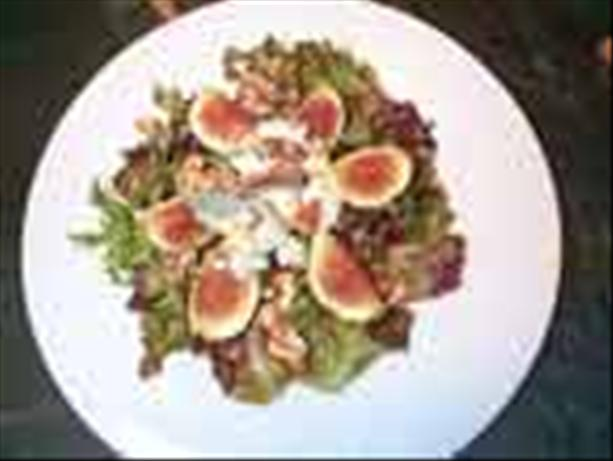 Fig, Cabrales, and Walnut Salad