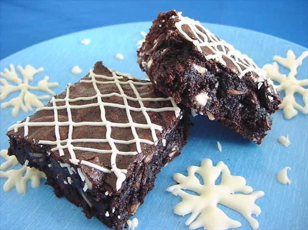Snow Flurry Brownies