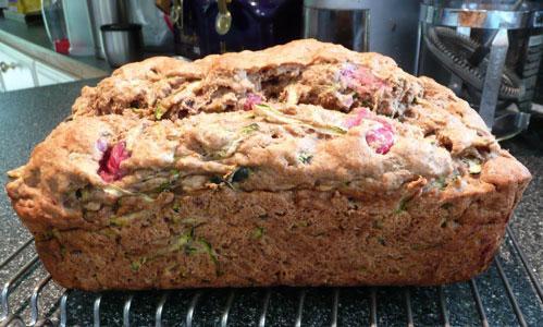 Zucchini Cranberrry Bread