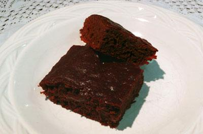 Low-Fat Vegan Brownies