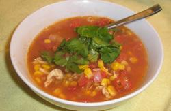 Chicken Corn and Tomato Chowder