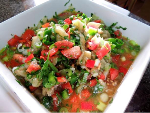 Lebanese Eggplant Salad - (Salatit El Batinjan)