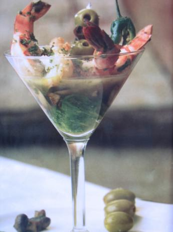 "Shrimp and Jalapeno ""martini"""