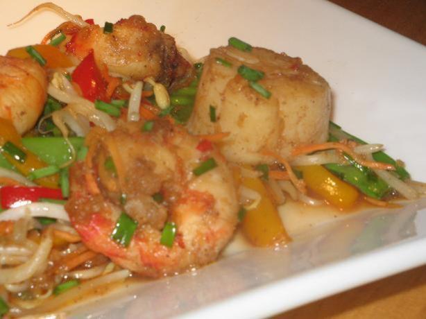 Chili Seafood Stir-Fry