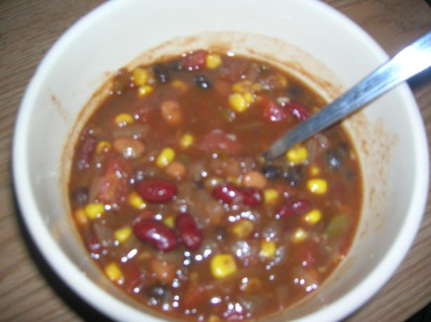 Dad's Delicious Easy Vegan Chili
