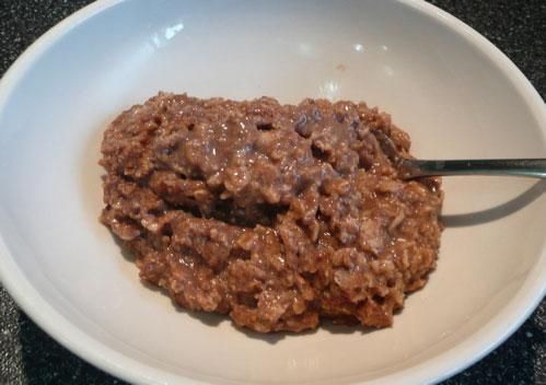 Chocolate-Spice Oatmeal
