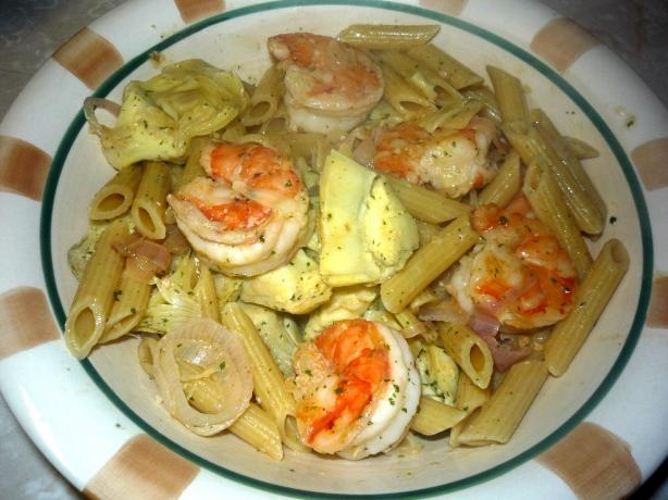 Shrimp Scampi With Artichokes