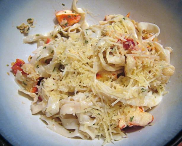 Shirataki Noodles With Lobster Flakes and Fresh Tarragon