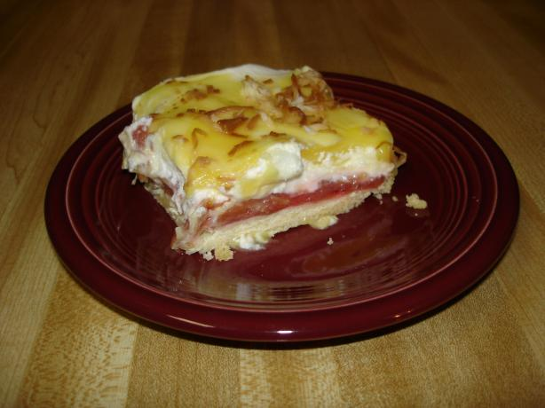 Cool Rhubarb Dessert