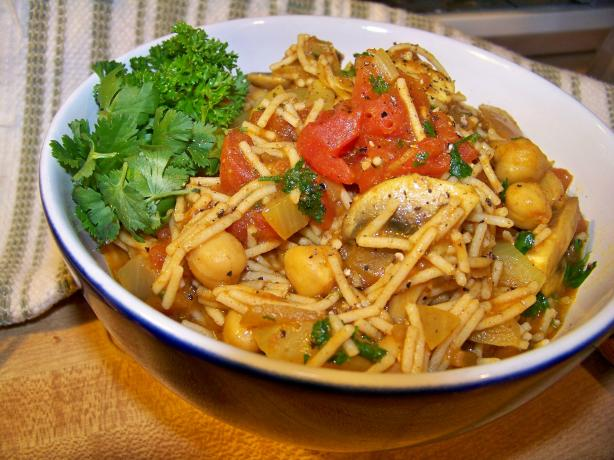 Moroccan Spaghetti (Very Low Fat and Healthy)