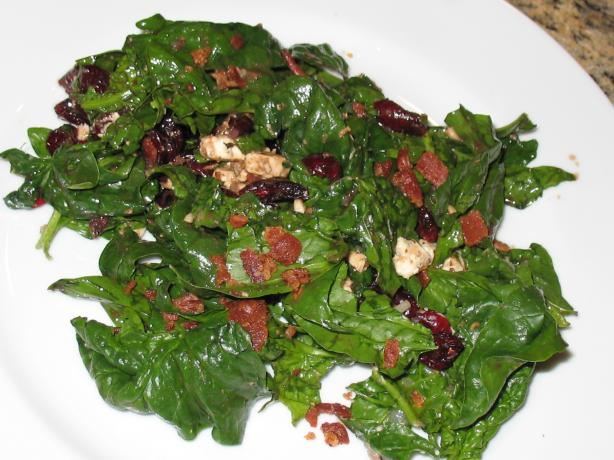 Wilted Spinach and Balsamic Vinegar