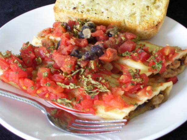 Southwestern Style Manicotti - Vegetarian