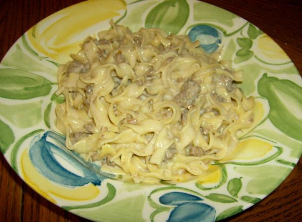 Creamy Hamburger Gravy With Noodles