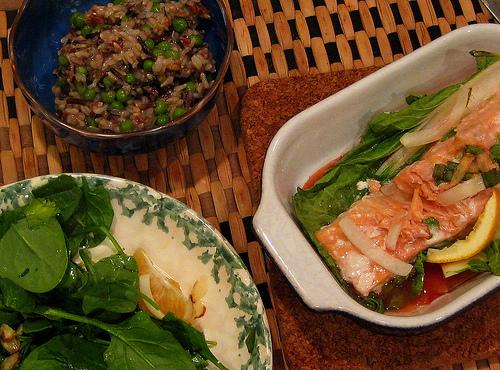 Hoisin Salmon With Bok Choy