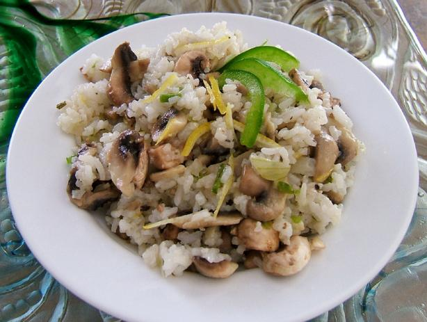 Jasmine Rice With Lemon and Mushrooms