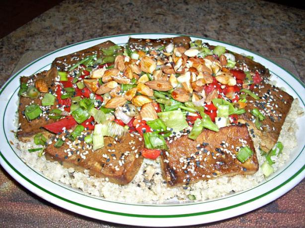 Quinoa Salad With Baked Marinated Tofu