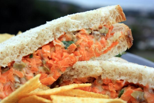 Nut and Carrot Sandwich