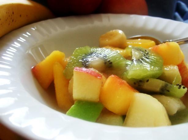 Froutosalata or Mixed Fruit With Orange Juice & Honey (Greec