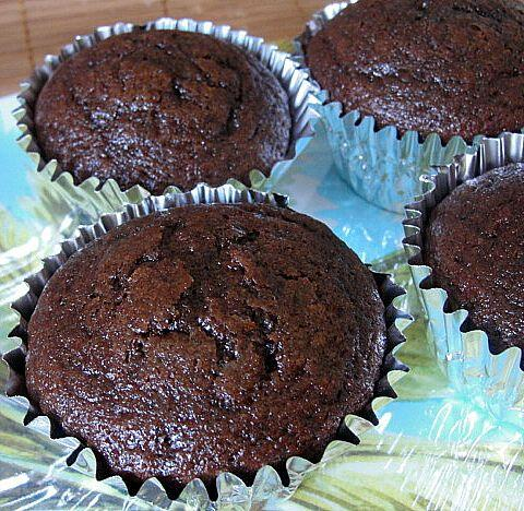 Microwaved Cocoa Muffins