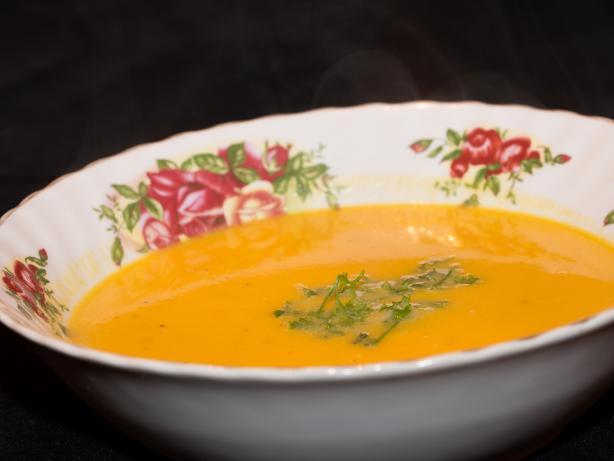 Pumpkin and Salami Soup (Kürbissuppe Mit Salami)