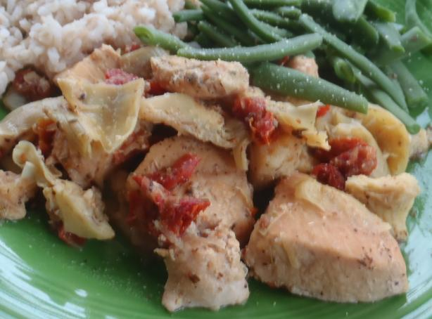 Greek-Style Chicken and Artichokes