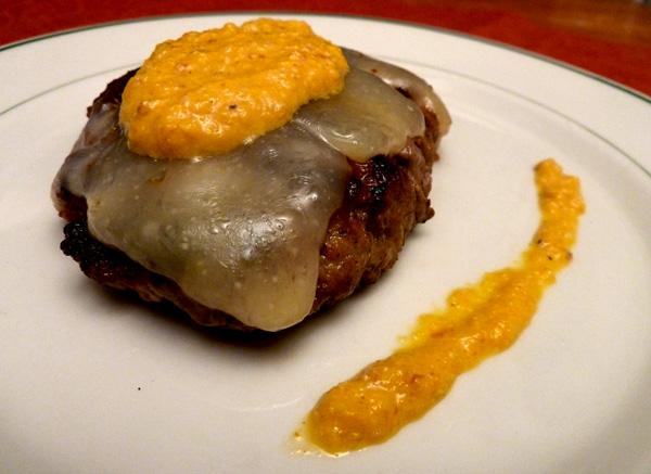 Spanish Burgers With Romesco and Manchego Cheese