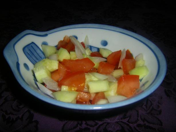 Tomato, Onion and Cucumber Kachumber