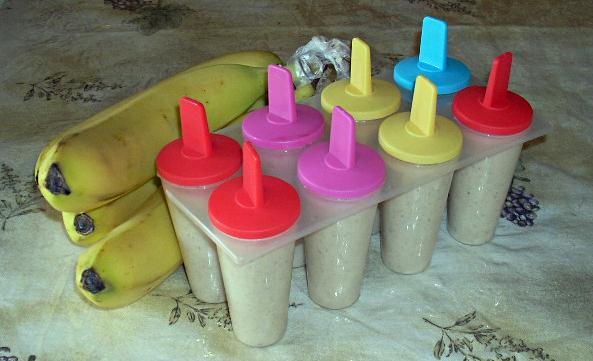 Banana Cinnamon Popsicles