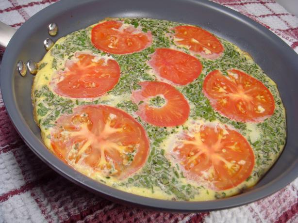Garden Herb and Onion Frittata