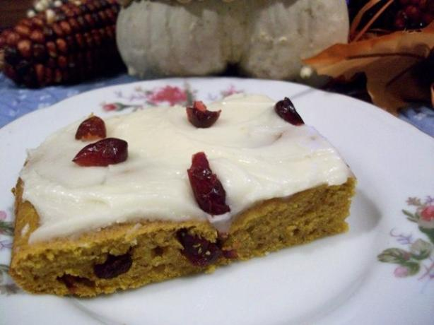 Pumpkin-Cranberry Bars